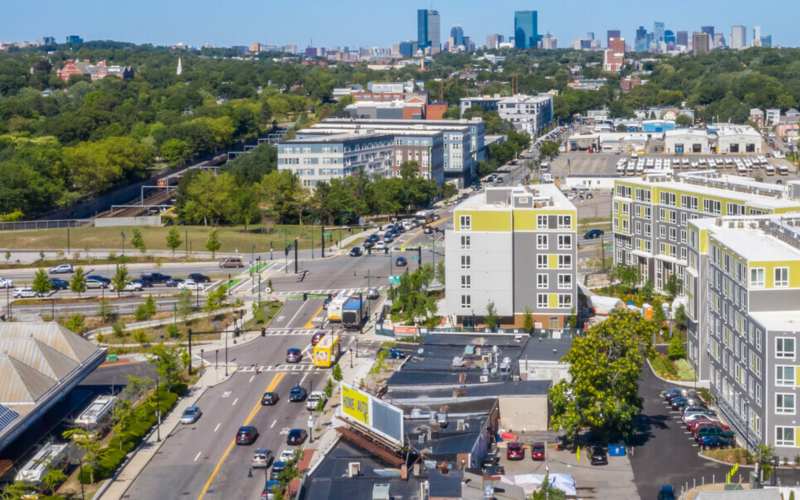 aerial view of Velo Forest Hills